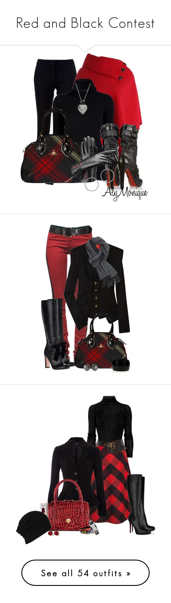 Red and Black Contest by jackie22 on Polyvore featuring polyvore fashion style STELLA McCARTNEY Inhabit 1928 Christian Louboutin Vivienne Westwood Aspinal of London Reeds Jewelers clothing Current/Elliott Vivienne Westwood Red Label RED Valentino Kenneth Jay Lane Gucci Michael Kors Jocasi Hobbs Ted Baker Sally Hansen Alexis Bittar Burberry White House Black Market AllSaints Vivienne Westwood Anglomania White Stuff Emilio Pucci Parajumpers Blonde + Blonde Splendid The Cambridge Satchel…