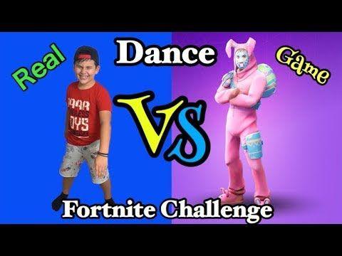 fortnite dance challenge real vs game famous toli youtube - famous fortnite dances