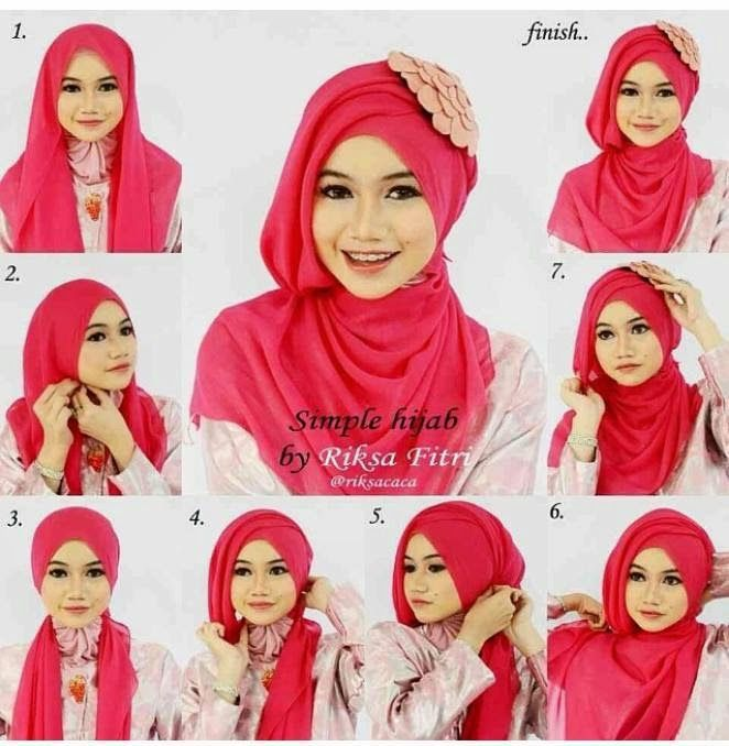 how to tie a modern hijab