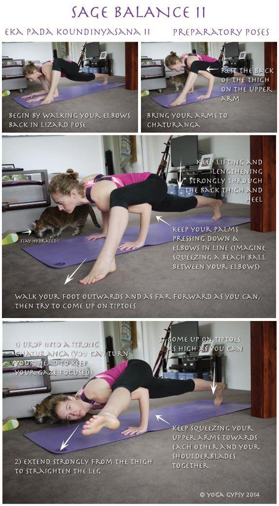 Yoga Gypsy: Yoga Tip Tuesdays: Sage Balance II (Eka Pada Koundinyasana 2)