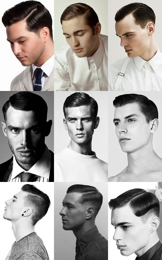 Men's Slick Side Parting Hairstyle