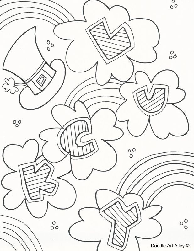 St. Patricks Day Coloring Pages   Celebration Doodles