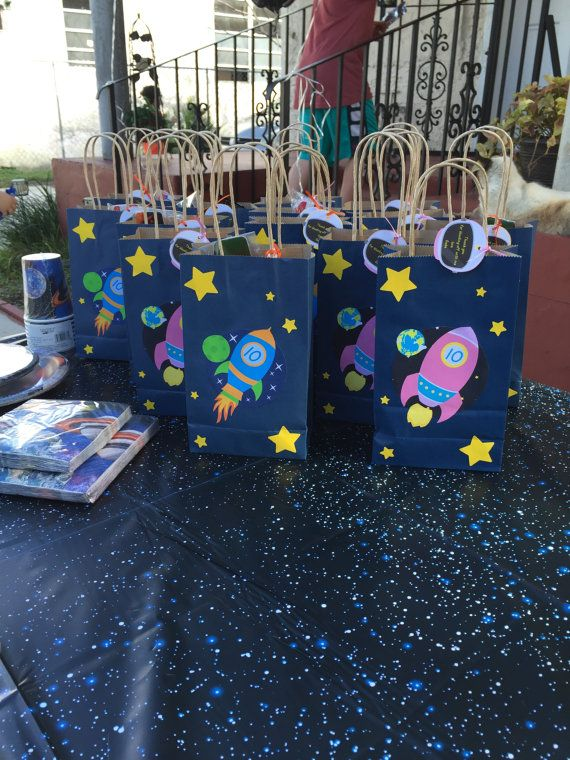 Space Treat Bags by BEASPARTY on Etsy