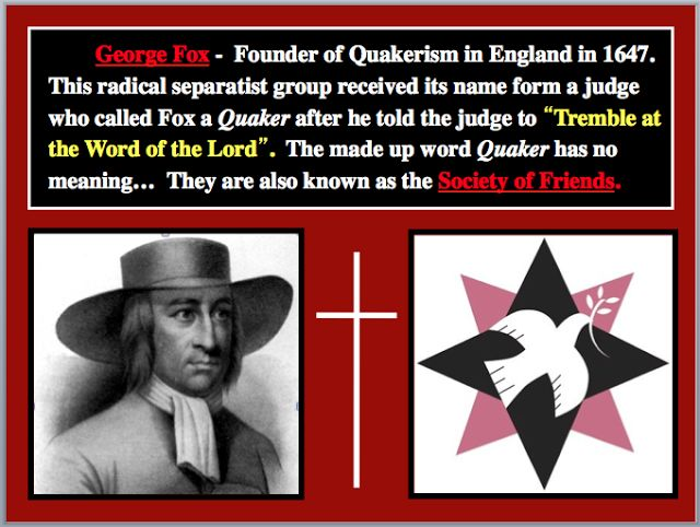 The founder of the Quakers, George Fox His words  - has no objection