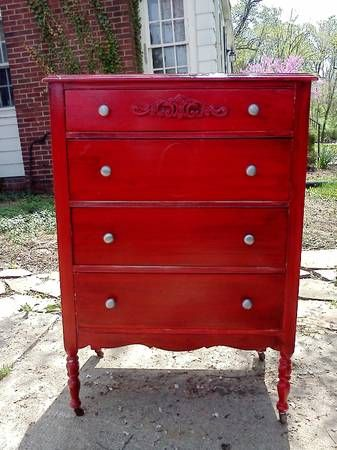 Indianapolis  RED SHABBY CHIC 4 DRAWER CHEST  140   http   furnishlyst. 107 best Indianapolis Listings images on Pinterest   Vintage