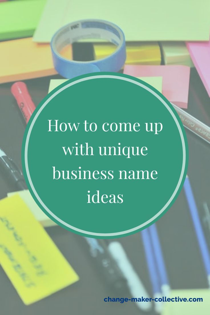 How to come up with unique business name ideas in 2020