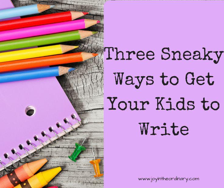 Fun ways to practice writing with kids. WriteShop homeschool curriculum.