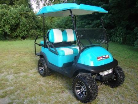 Golf Cart w/Custom Paint and Rims~