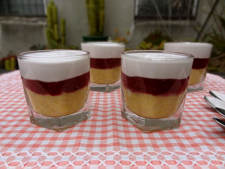 * Lemon, Berry and Coconut Puddings *