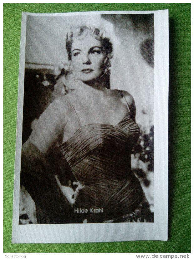 "HILDE KRAHL 1950""S VINTAGE FOTOCARD GERMANY FILM CINEMA STAR  NEUF/MINT/NEW - Actors"