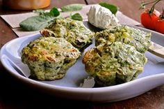 Spinatmuffins med feta, hytteost og pestoflødeost - Julie Karla, Sunde Opskrifter, Low Carb Opskrifter