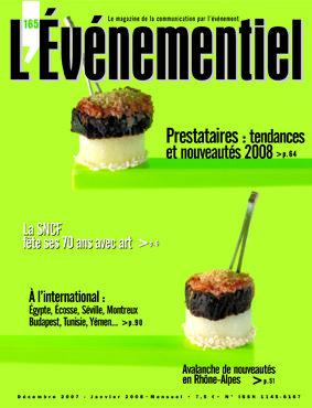 L'ÉVÉNEMENTIEL n°165 (décembre 2007 - janvier 2008) : Prestataires, tendances et nouveautés 2008