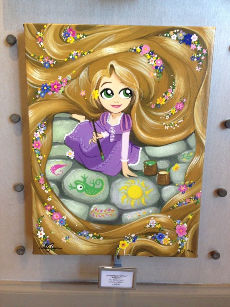 Epcot Merchandise Update: Frozen tees and Disney Artwork | DisneyLifestylers Tangled Painting