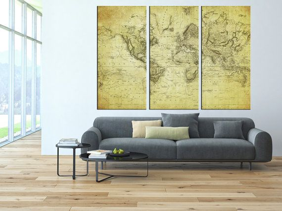 55 best world map images on pinterest worldmap home ideas and old world map canvas art prints vintage world map by artcanvasshop gumiabroncs Images