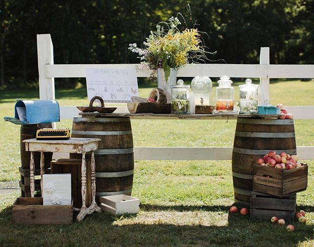 Missing the whole wedding hoopla and reminiscing about all the little details that made our weekend so magical. Our welcome station was on point... Fresh lemonade, cucumber mint water and iced tea for our guests when they arrived, fresh and local wild flowers, wine barrel table, and the amazing timeline our dearest friend Ora created for us, just to name a few of the things that made up this gorgeous station. #welcome #kowalips #weddingwelcomestation #inspo #obsessed #winebarrel #wildflowers…