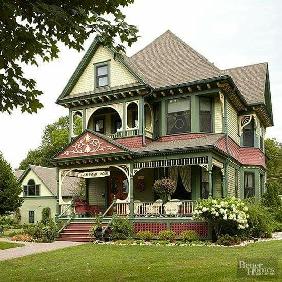 Estilo victoriano maison pinterest maison mod le for Architecture victorienne