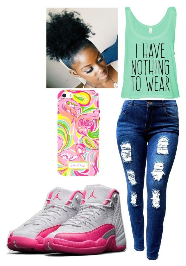 """Untitled #3"" by queenquanna1108 on Polyvore featuring beauty, NIKE and Lilly Pulitzer"