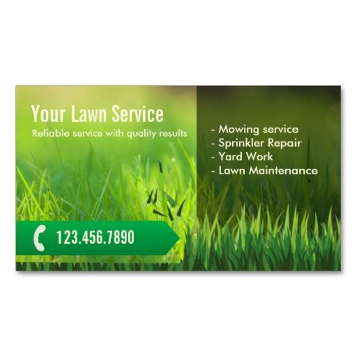 17 Best images about Lawn Care Business Cards on Pinterest | Green ...