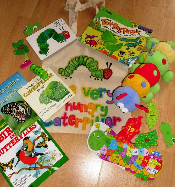 Puzzles, non fiction literature and soft toys accompany the classic Hungry Caterpillar story.