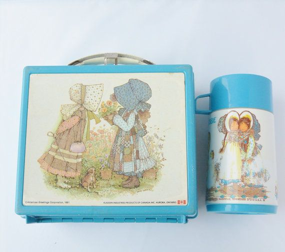 Holly Hobbie Lunchbox and Thermal Bottle or by KnitAndTricot