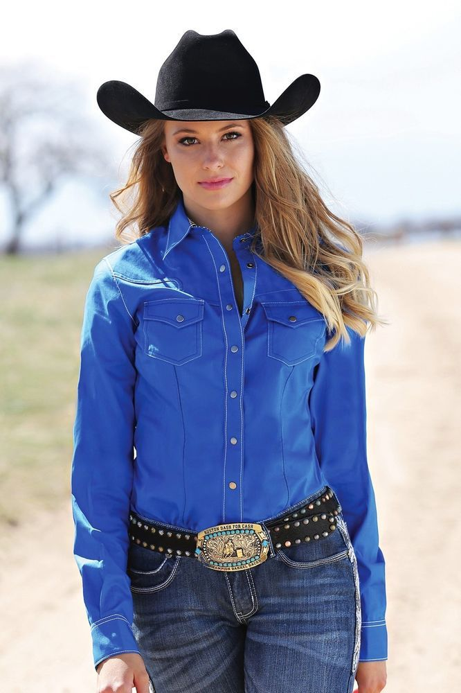 Cruel Girl Ctw9385001 Rodeo Western Barrel Arena Fit Shirt -8893