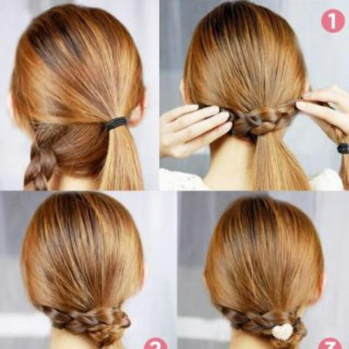 cute n easy ponytail more hair ideas easy hairstyles hair styles nurse ...