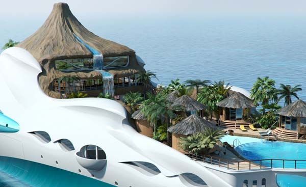 Marvelous Tropical Island Yacht for New Level of Luxury : Tropical Island Yacht 81