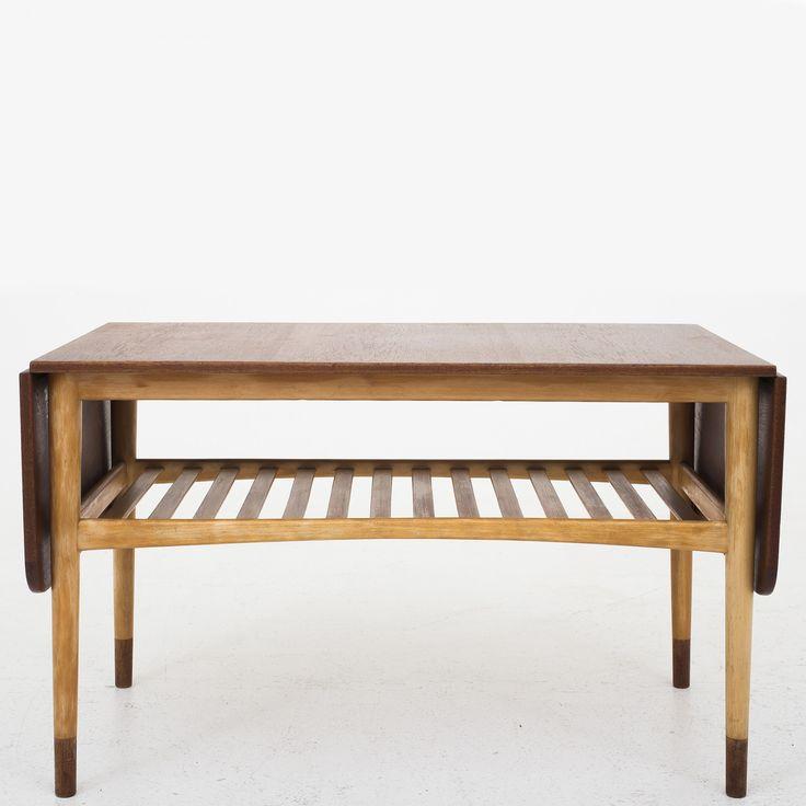 Sofabord i teak og bøg