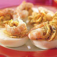 gevulde eieren, altijd goed!