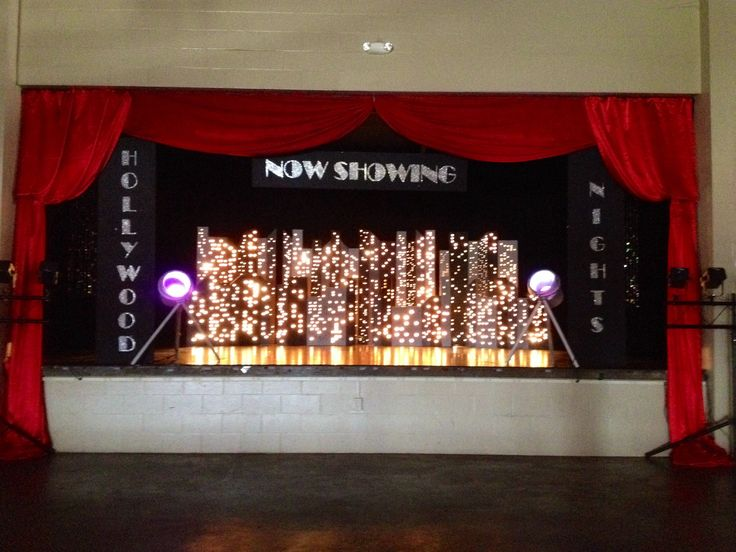 hollywood theme prom - stage backdrop