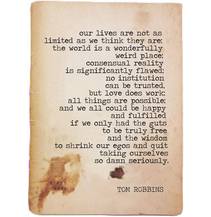 fuck yeah, tom robbins : Photo
