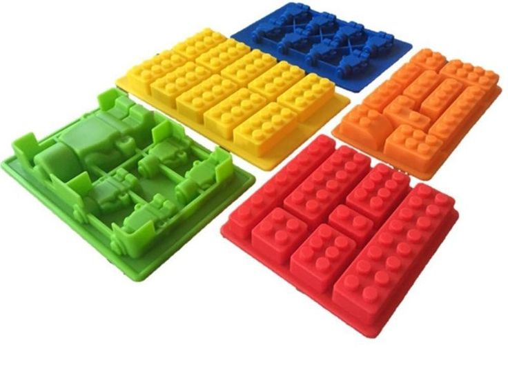 Building Bricks Silicone Ice Molds | 5pcs Set