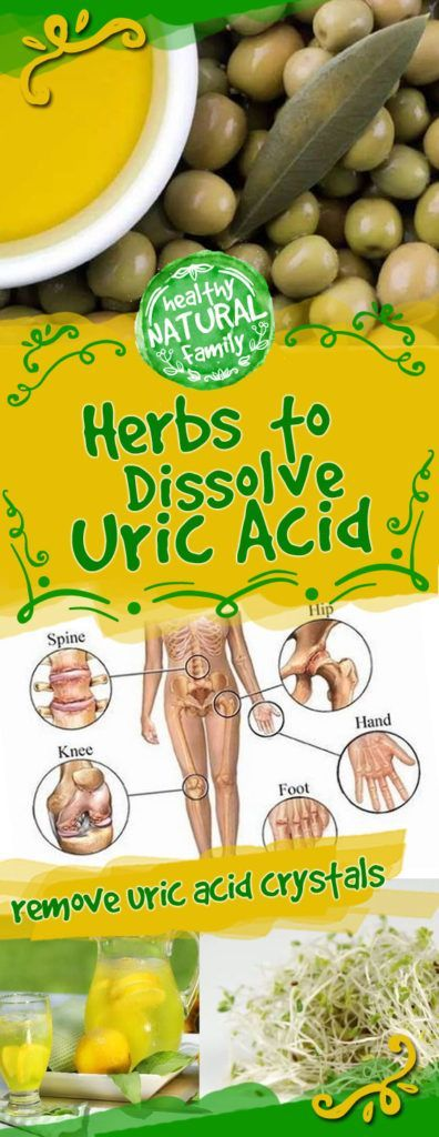 Acidic diets rich in purines, which are commonly found in organ meats, aged cheese, shellfish, mushrooms and wine, promote the formation and precipitation of uric acid crystals. Uric acid crystals can collect in the kidneys to form stones, or they can become deposited within joints and cause a painful, arthritic-like condition called gout. Uric acid ...
