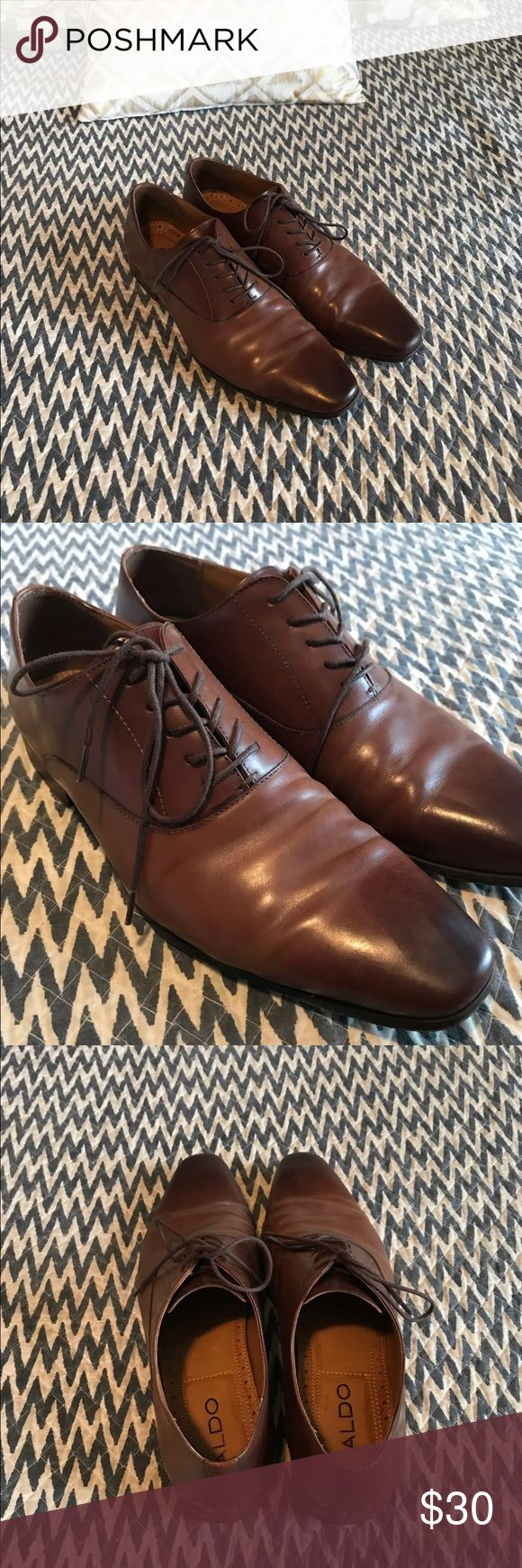 Genuine Leather Men's Aldo shoes - brown Genuine brown Leather shoes from Aldo in good condition. Size 11. Aldo Shoes Oxfords & Derbys