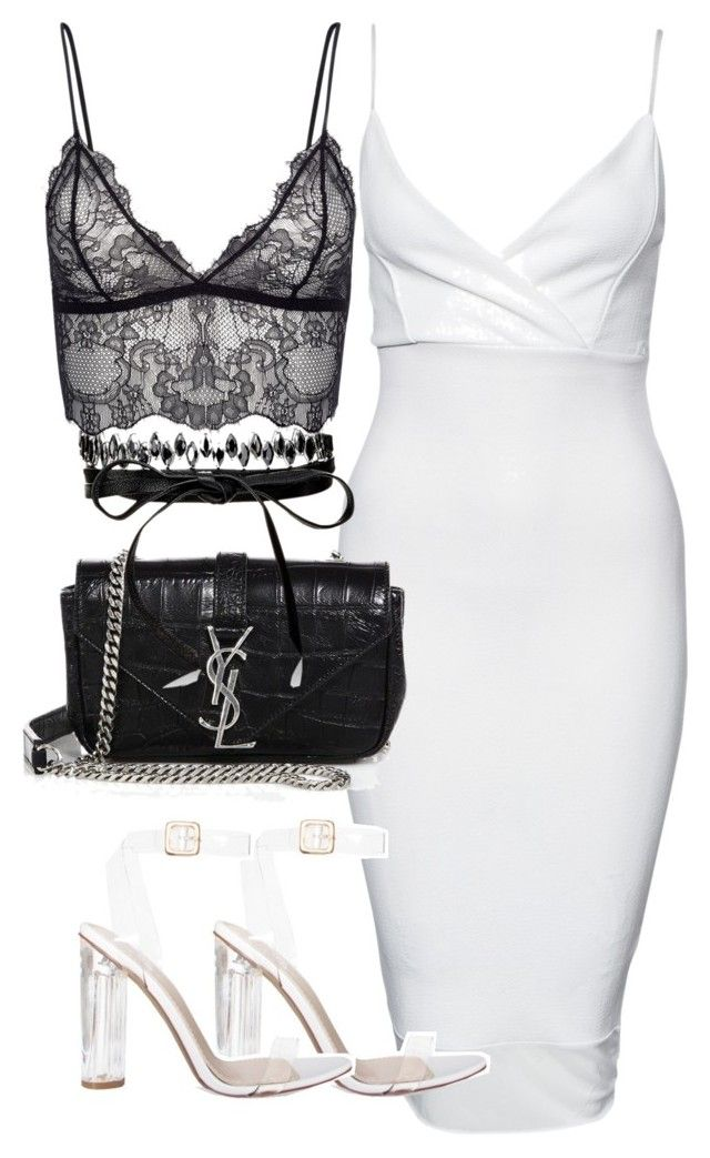 """""""Untitled #2336"""" by theeuropeancloset on Polyvore featuring New Look, Yves Saint Laurent and Fallon"""