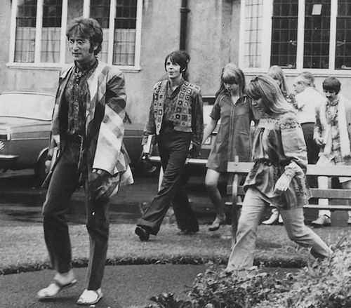 In August 1967, The Beatles went to study TM with the Maharishi at a retreat in Bangor, Wales.