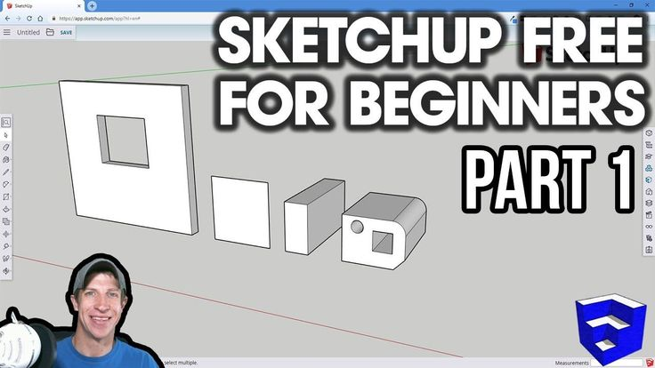 Getting Started With Sketchup Free Lesson 1 Beginners Start