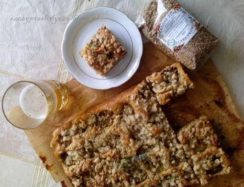 Śmietankowe ciasto ze śliwkami - bez miksera