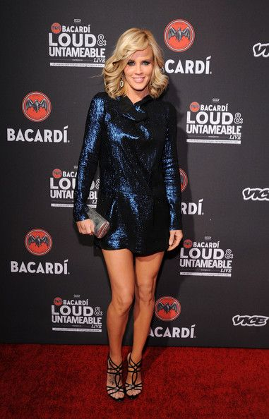 Jenny McCarthy gets festive in a sequined mini at the Bacardi and Vice Cuban Independence Day Celebration in N.Y.C.