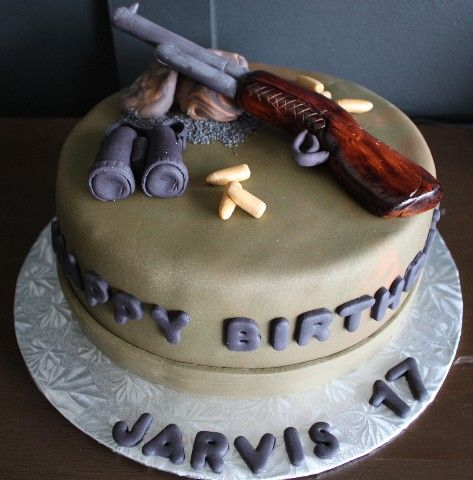 Best Cake Decorating Gun : 14 best images about Rifle cake for derek! on Pinterest ...