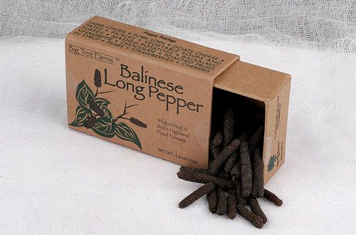 Long peppers are the dried fruit of a flowering vine native to Indonesia and Java. Long peppers have been cultivated since ancient times and were used by the Romans to flavor food. Long peppers are widely used in Southeast Asian, Indian, and North African cooking.