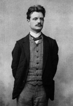 Jean Sibelius, (1865-1957) compositeur national de Finlande et agréable à l'oeil