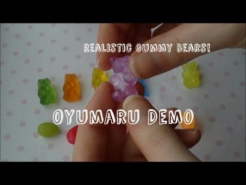 Oyumaru Demo - Gummy Bears, Jelly Beans and Moulds (Sweetorials Entry) - YouTube