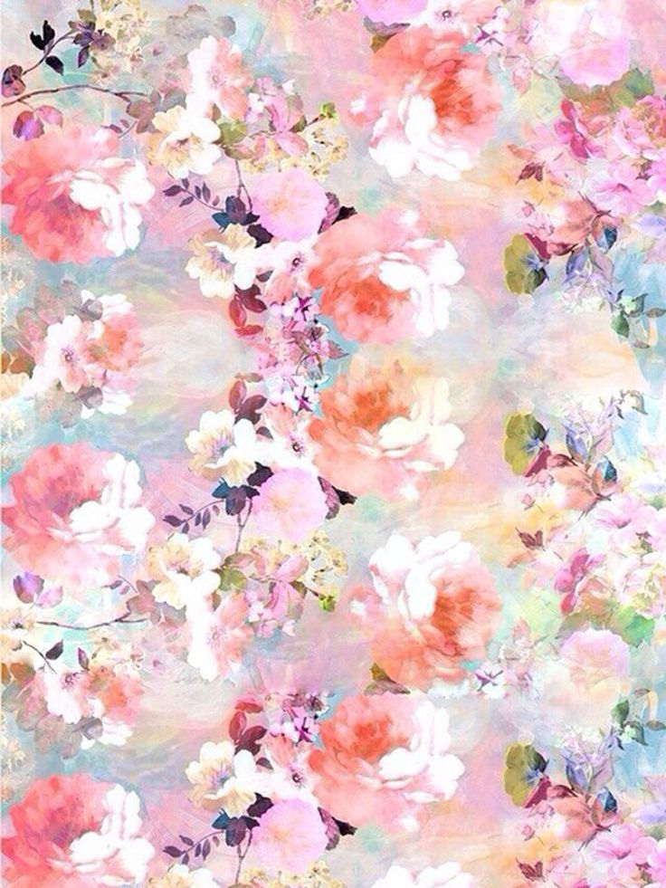 Pastel Floral Ipad Mini Resolution 768 X 1024 Pink