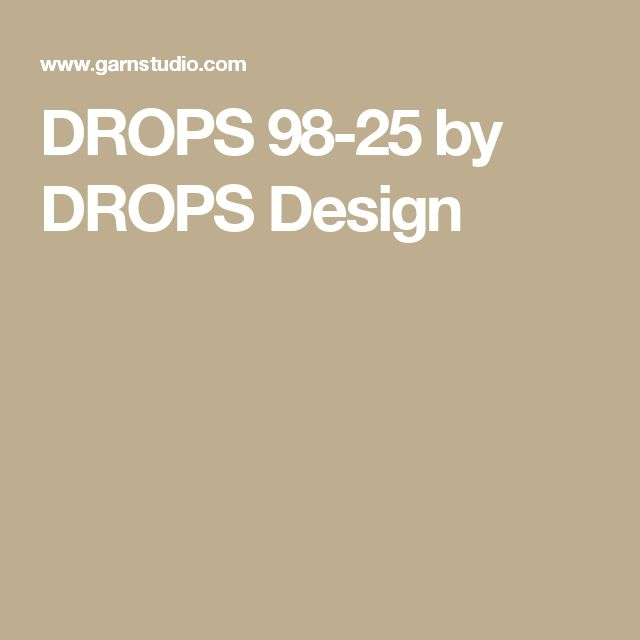 DROPS 98-25 by DROPS Design