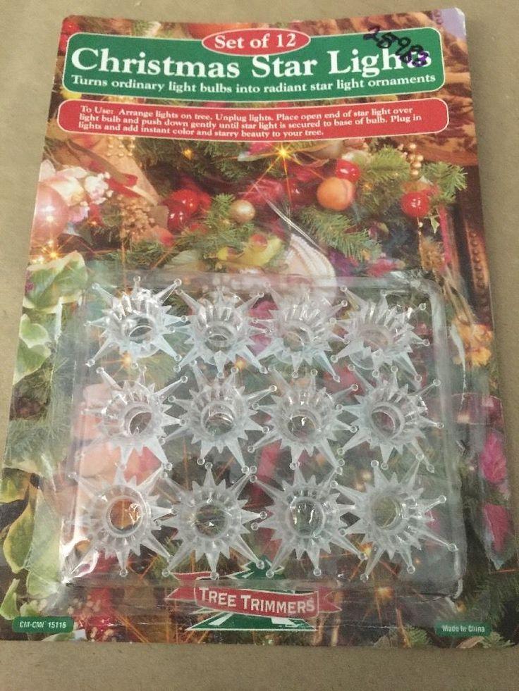 Christmas Tree Light Bulb Accessories Star Lights 12pk Tree Trimmers CMCMI15116   eBay