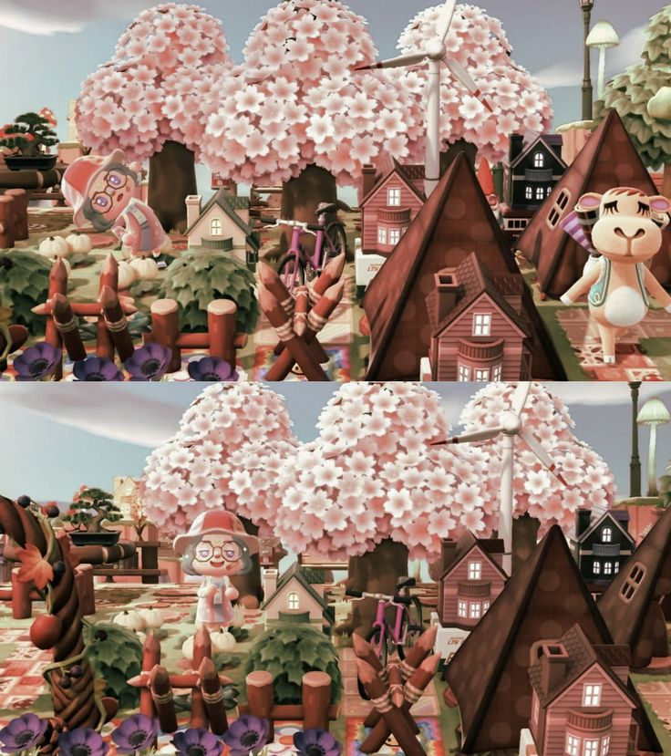 Acnh Cherry Blossoms In 2021 Cherry Blossom Blossom Gingerbread House