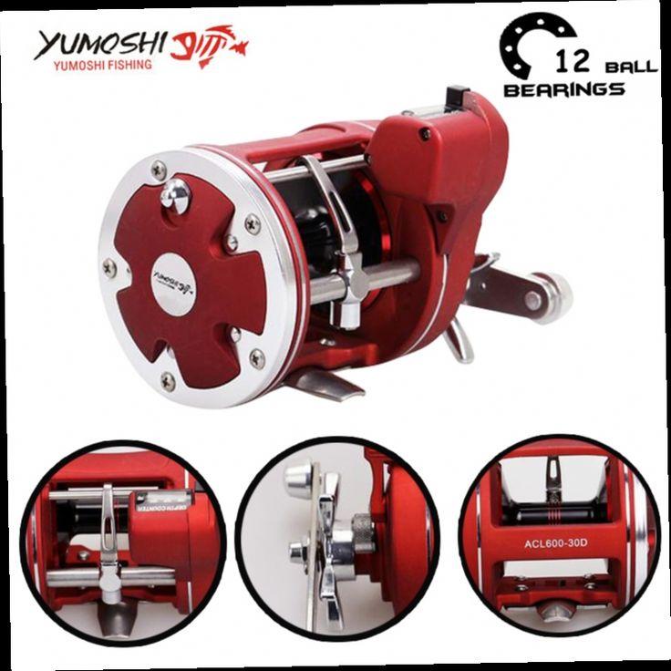 41.49$  Buy now - http://ali54k.worldwells.pw/go.php?t=32758056727 - Yumoshi Centrifugal brake system 12BB  5.2:1 Carp large Fishing Reels SHIMANO Fishing Reel Steering-wheel Carretilha de pesca 41.49$