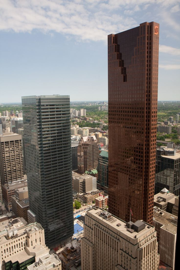 Scotia Tower-Scotia Plaza, Toronto, Canada; 275 m, 68 fl; completion 1989