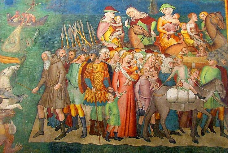 1367, Bartolo di Fredi, Crossing the Red Sea